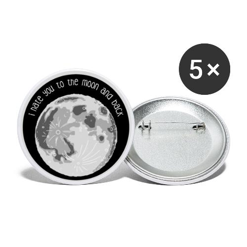 Button – Hate You Moon - Buttons mittel 32 mm (5er Pack)
