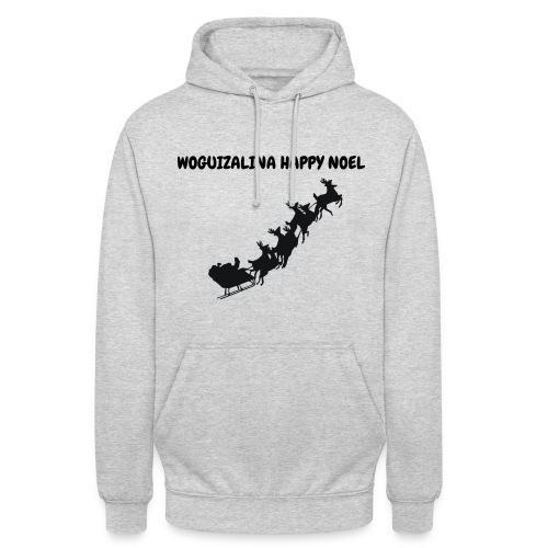 HAPPY NOEL 2018 WOGUI - Sweat-shirt à capuche unisexe