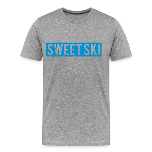 Sweet Ski T-Shirt Blue Slog - Männer Premium T-Shirt