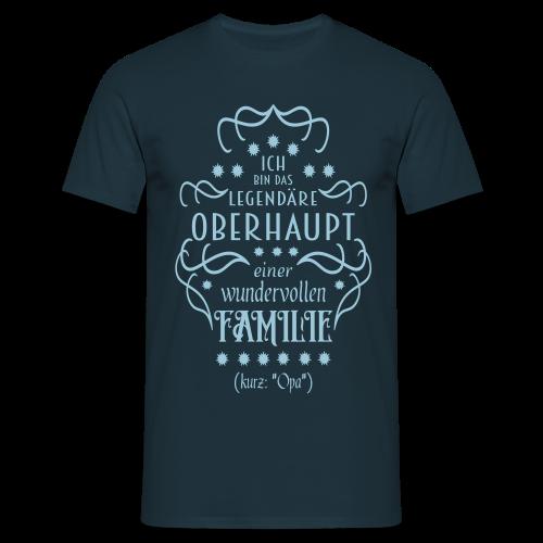 Familienoberhaupt Opa Spruch T-Shirt - Männer T-Shirt
