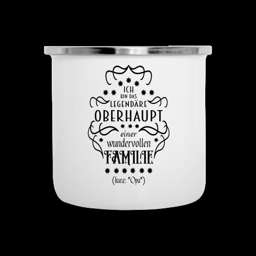 Familienoberhaupt Opa Spruch Emaille-Tasse - Emaille-Tasse