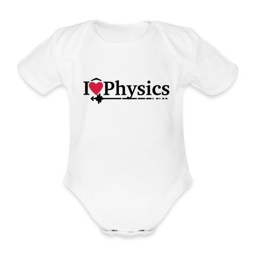 I heart physics babygrow - Organic Short-sleeved Baby Bodysuit