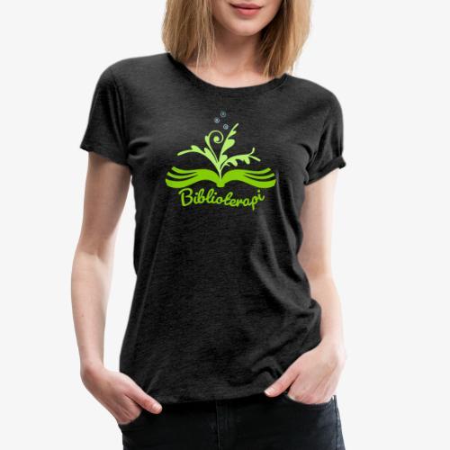 Biblioterapi grön - dam - Premium-T-shirt dam