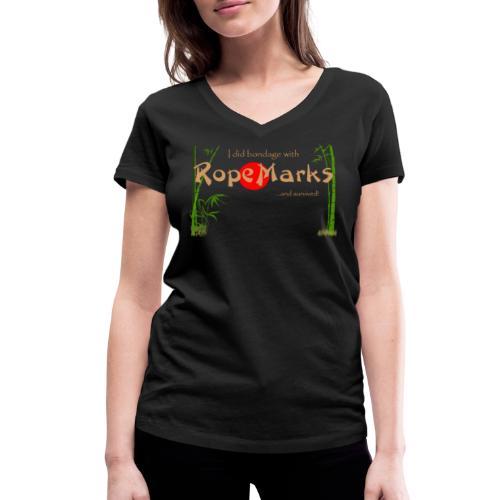 I did Bondage with...Bio V-neck by RopeMarks - Women's Organic V-Neck T-Shirt by Stanley & Stella