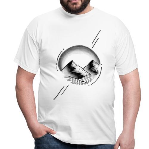 Circle mountain - Männer T-Shirt