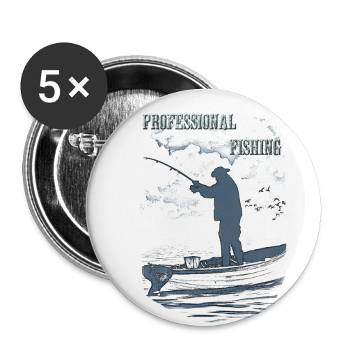 Professional fishing - Buttons groß 56 mm