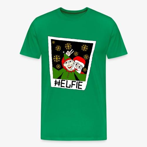 Männer Premium T-Shirt Weihnachtsmann Foto Ugly Xmas - Männer Premium T-Shirt