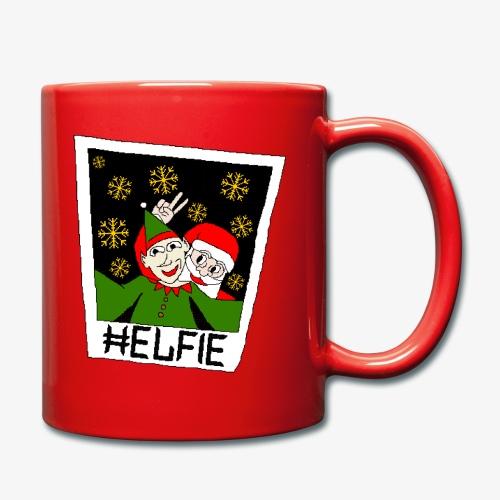 Tasse Weihnachtsmann Foto Ugly Xmas - Tasse einfarbig