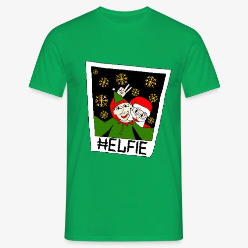 Männer T-Shirt Weihnachtsmann Foto Ugly Xmas - Männer T-Shirt