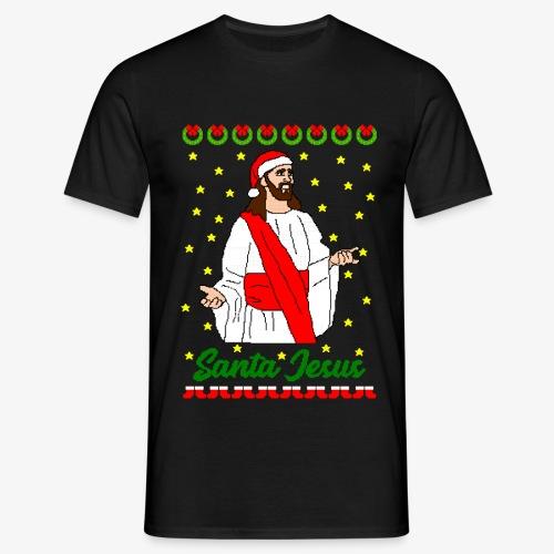 Männer T-Shirt Santa Jesus Ugly Xmas - Männer T-Shirt