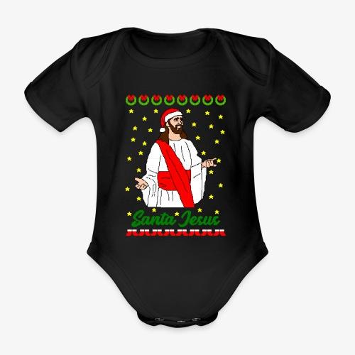 Baby Bio-Kurzarm-Body Santa Jesus Ugly Xmas - Baby Bio-Kurzarm-Body