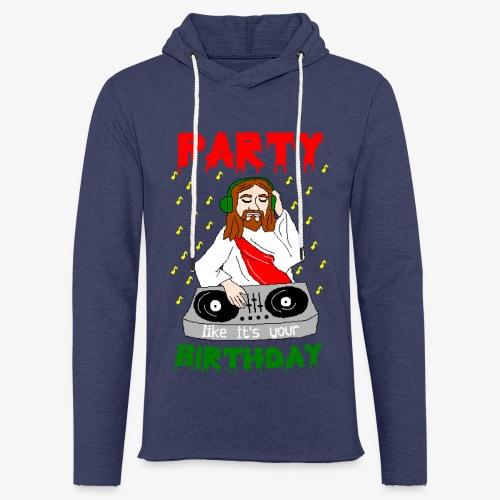 Leichtes Kapuzensweatshirt Unisex dj jesus birthday party ugly christmas - Leichtes Kapuzensweatshirt Unisex
