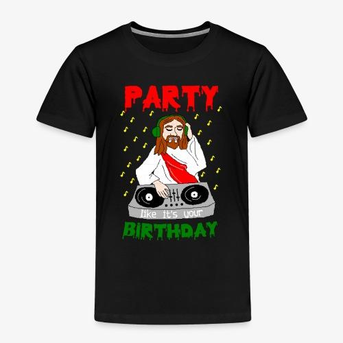 Kinder Premium T-Shirt dj jesus birthday party ugly christmas - Kinder Premium T-Shirt