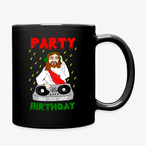 Tasse dj jesus birthday party ugly christmas - Tasse einfarbig