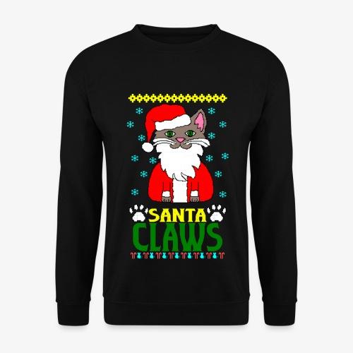 Männer Pullover santa claws cat Ugly Christmas - Männer Pullover