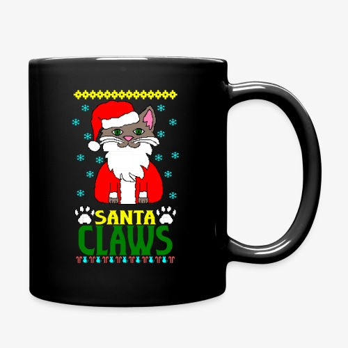 Tasse santa claws cat Ugly Christmas - Tasse einfarbig