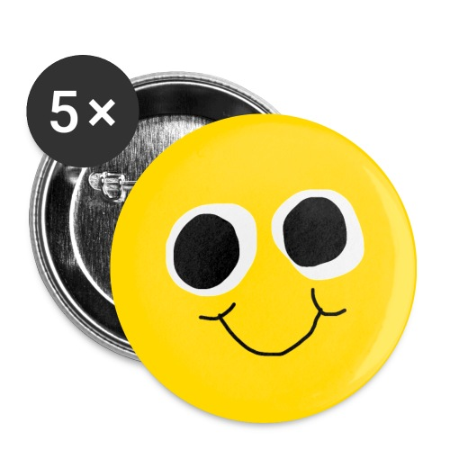 SQUIZZY SMILE BUTTON SET - Buttons mittel 32 mm (5er Pack)