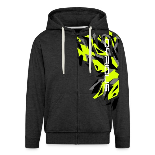 Cyrious Camo Yellow V2 - Men's Premium Hooded Jacket