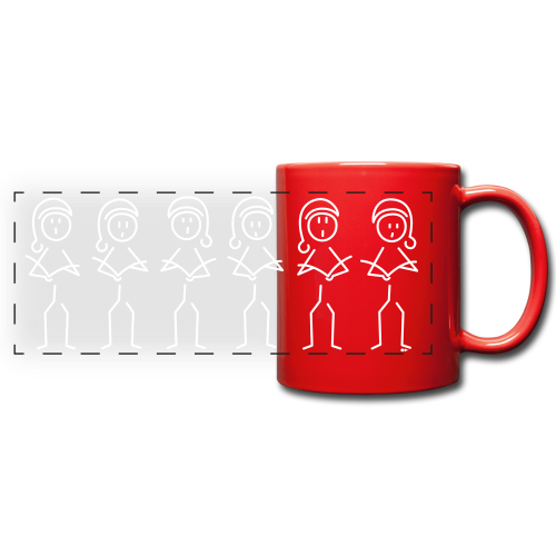 Christmas choir - Full Color Panoramic Mug