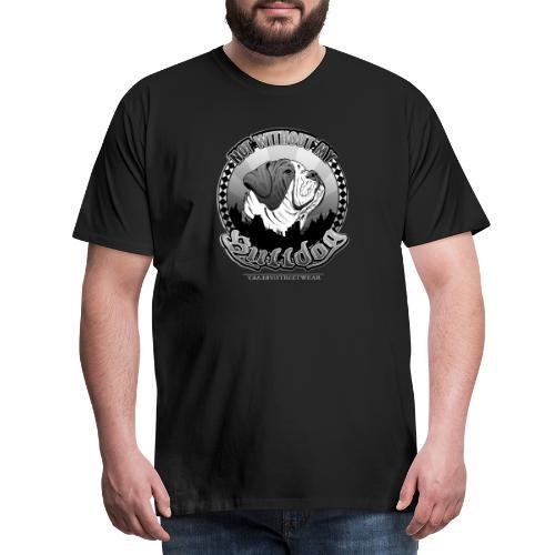 Not without my bulldog - Männer Premium T-Shirt