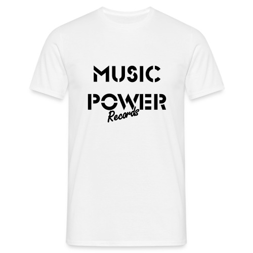 Vintage Style Music Power Records Tee - Men's T-Shirt