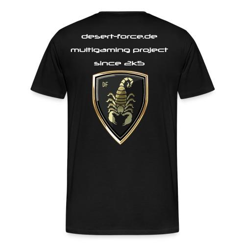 Männer Premium T-Shirt Schwarz Variante 3 - Männer Premium T-Shirt
