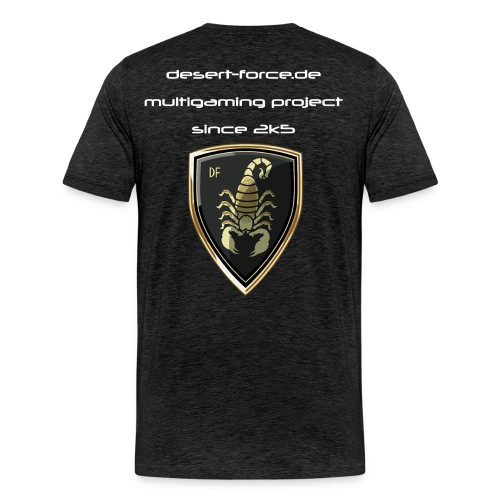 Männer Premium T-Shirt Antrazit Variante 3 - Männer Premium T-Shirt