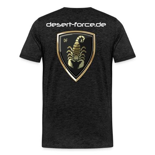 Männer Premium T-Shirt Antrazit Variante 4 - Männer Premium T-Shirt