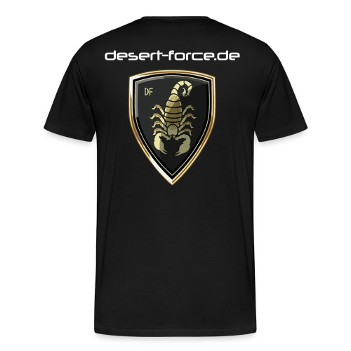 Männer Premium T-Shirt Schwarz Variante 4 - Männer Premium T-Shirt