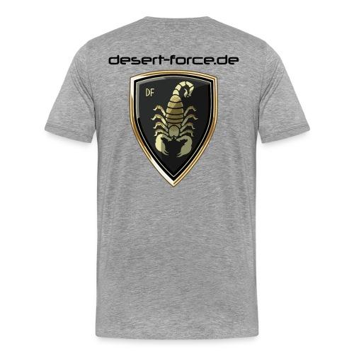 Männer Premium T-Shirt Grau Variante 4 - Männer Premium T-Shirt
