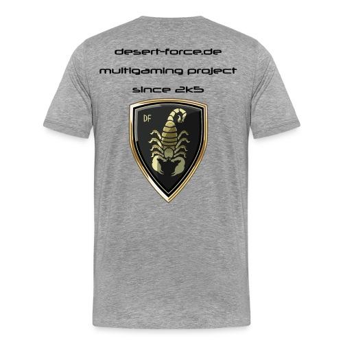Männer Premium T-Shirt Grau Variante 3 - Männer Premium T-Shirt