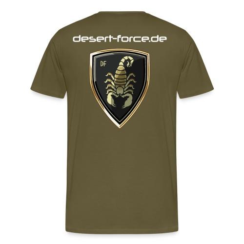 Männer Premium T-Shirt Oliv Variante 4 - Männer Premium T-Shirt