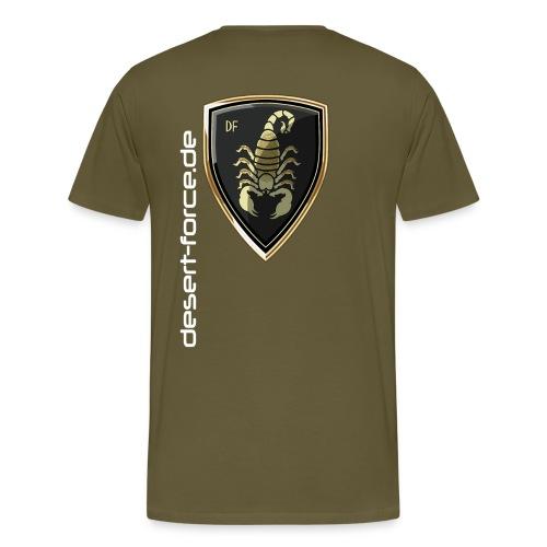 Männer Premium T-Shirt Oliv Variante 5 - Männer Premium T-Shirt