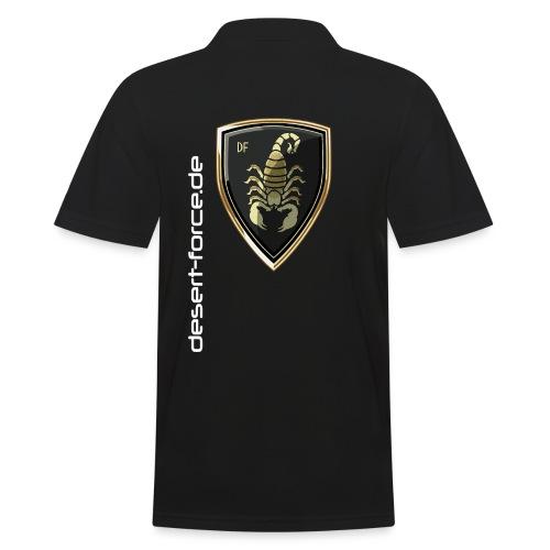 Männer Polo Schwarz Variante 2 - Männer Poloshirt