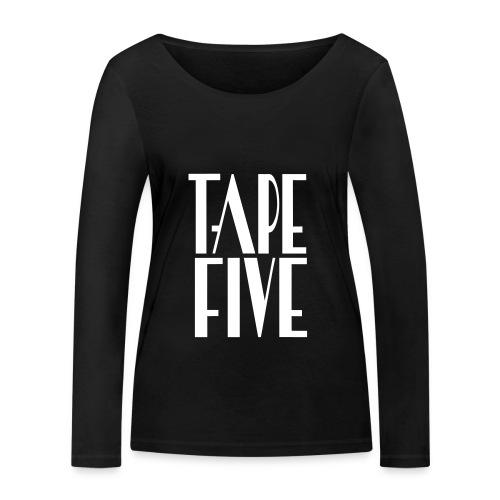 TAPE FIVE long sleeve logo grande fem - Women's Organic Longsleeve Shirt by Stanley & Stella