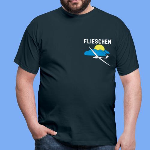 Flieschen Logo Segelflieger Geschenk - Men's T-Shirt