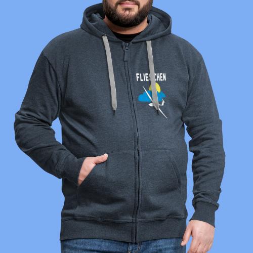Flieschen Logo Segelflieger Geschenk - Men's Premium Hooded Jacket