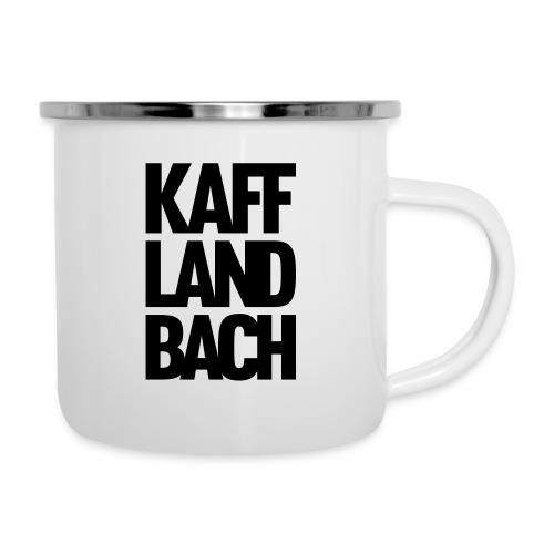 Kaff-Land-Bach - Emaille-Tasse