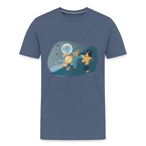 Astronaut und Stern - Teenager Premium T-Shirt