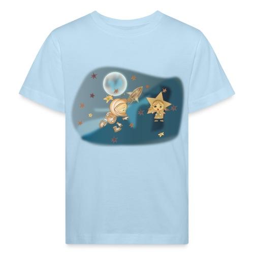 Astronaut und Stern - Kinder Bio-T-Shirt