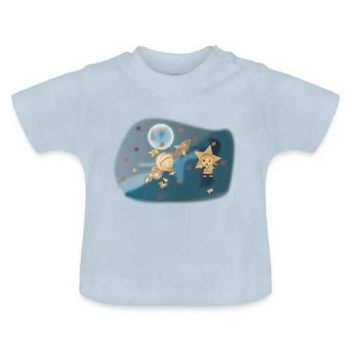 Astronaut und Stern - Baby T-Shirt
