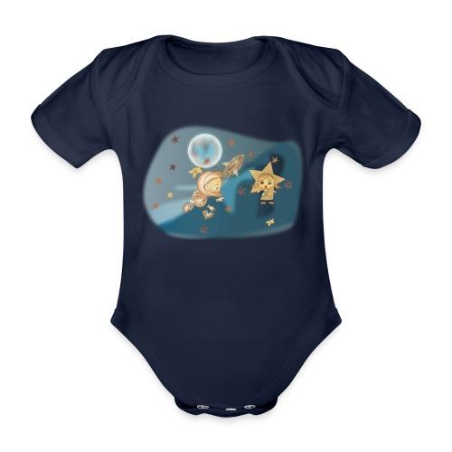 Astronaut und Stern - Baby Bio-Kurzarm-Body