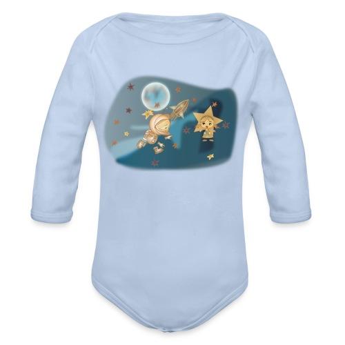 Astronaut und Stern - Baby Bio-Langarm-Body