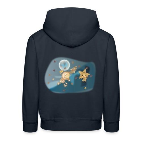 Astronaut und Stern - Kinder Premium Hoodie