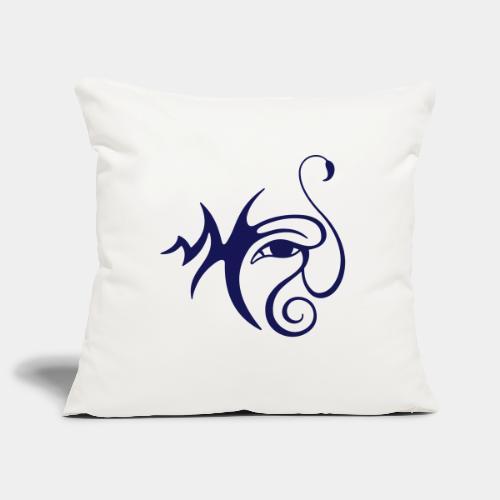 Œil-Scorpion (monochrome) - Housse de coussin décorative 44x 44cm