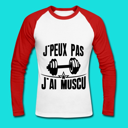Muscu - T-shirt baseball manches longues Homme