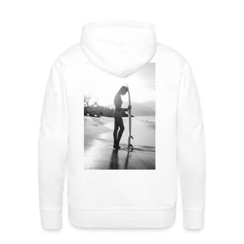 Surfgirl nude - Man Hood back print - Men's Premium Hoodie