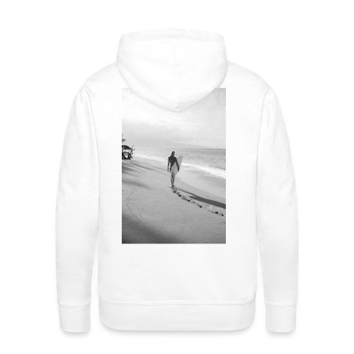 Surfgirl walk - Man Hood back print - Men's Premium Hoodie