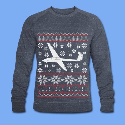 glider pilot ugly christmas Ask21 - Men's Organic Sweatshirt by Stanley & Stella