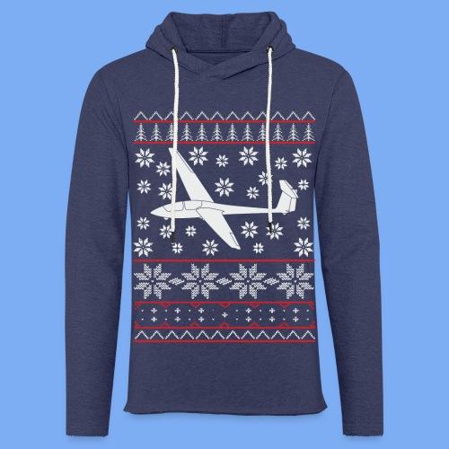 glider pilot ugly christmas Ask21 - Light Unisex Sweatshirt Hoodie